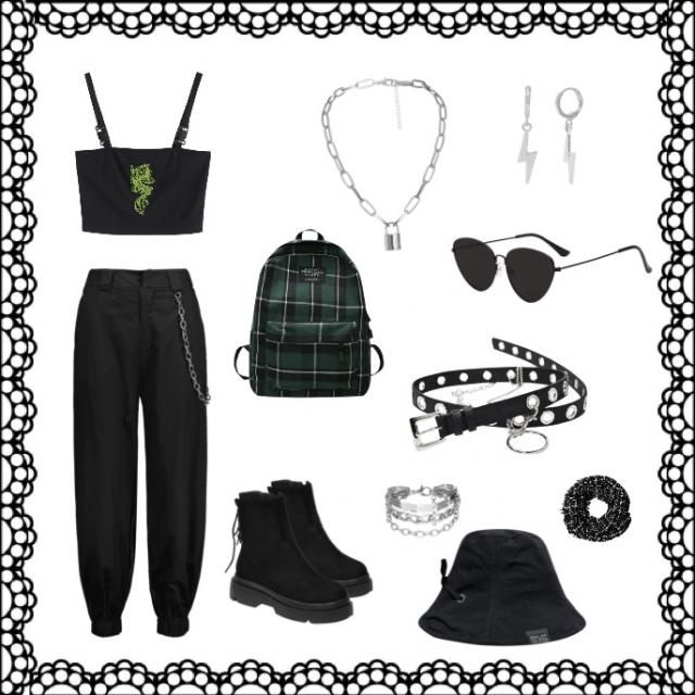 Edgy style.