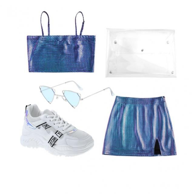 A pretty blue outfit perfect for a  or  💙