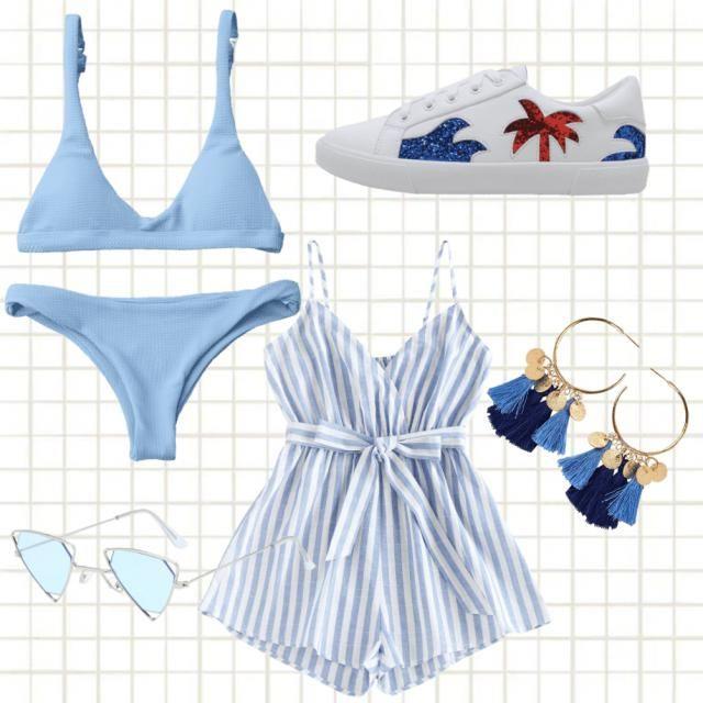Summer getaway outfit.