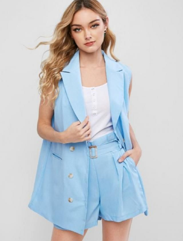 I am literally in Love with this two piece BabyBlue set. | | |