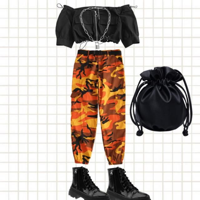 This outfit is cute but weird outfit you have no earrings because a tomboy doesn't like earrings you have the crop top …