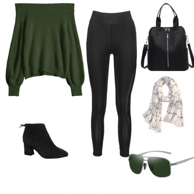 Happy Saint Patty's day I know it's a day after but this is a cute outfit with a green top that hangs over your shoulde…