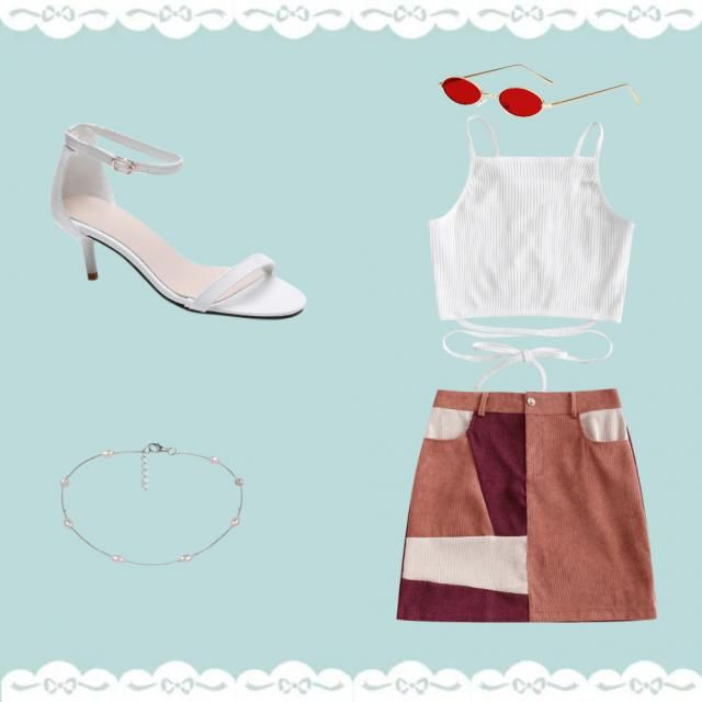 a white top&abstract skirt pair is never a bad idea!