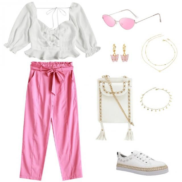 Pink and white☺️ summer idea !