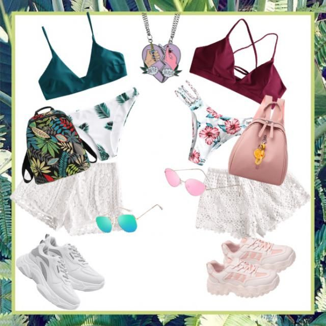 """Beach day with your bestie? Here's the cutest outfits for the beach and the bonfire!  """"Besties for life!""""  -my sister a…"""