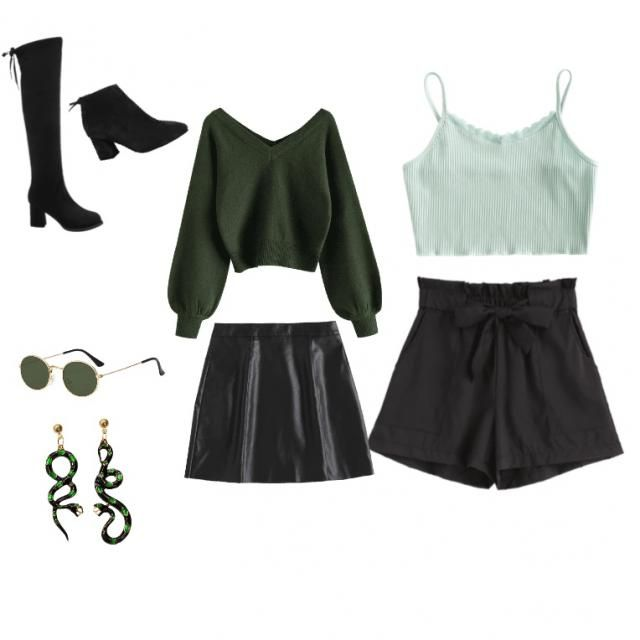 These are 2 cute looks for st pattys day. One a little warmer than the other. Also 2 pairs of different shoes, both fit…