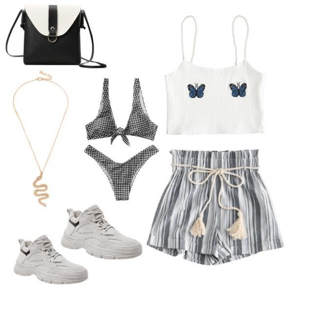 A cute, 2 part outfit. Good for chilling at the beach or going for a walk. The necklace would look super cute with the …
