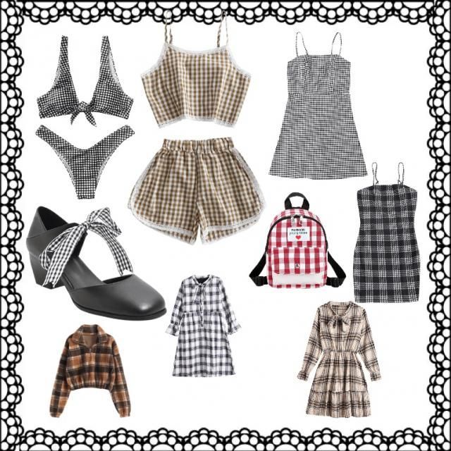 A variety of super cute plaid outfits and outfit starters. Very nice for fall