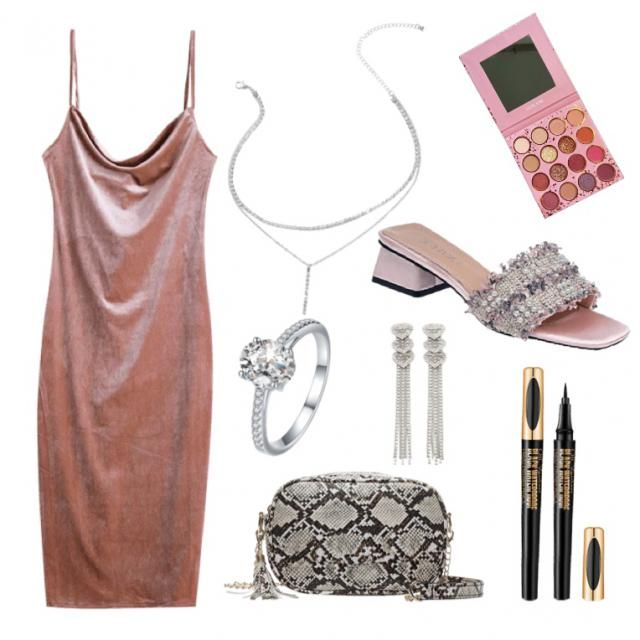 Dusty pink glam