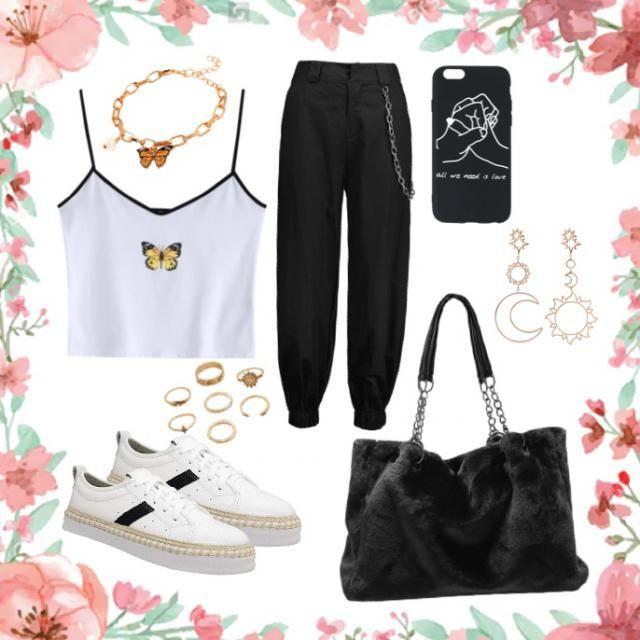 Cute grunge summer outfit
