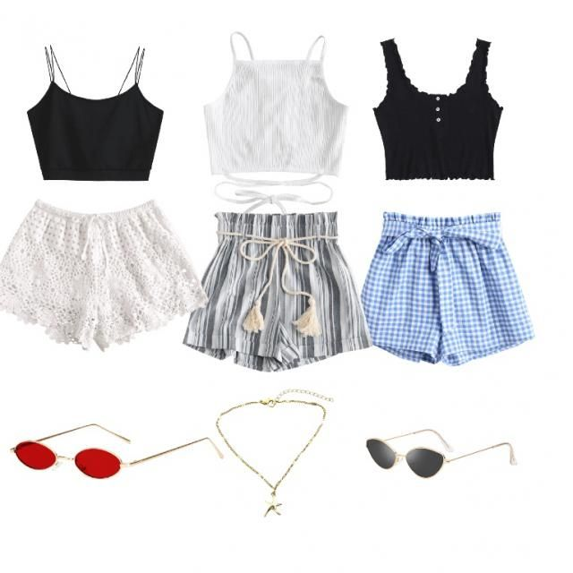 Super cute summer outfits. You can much and max, all would be cute together