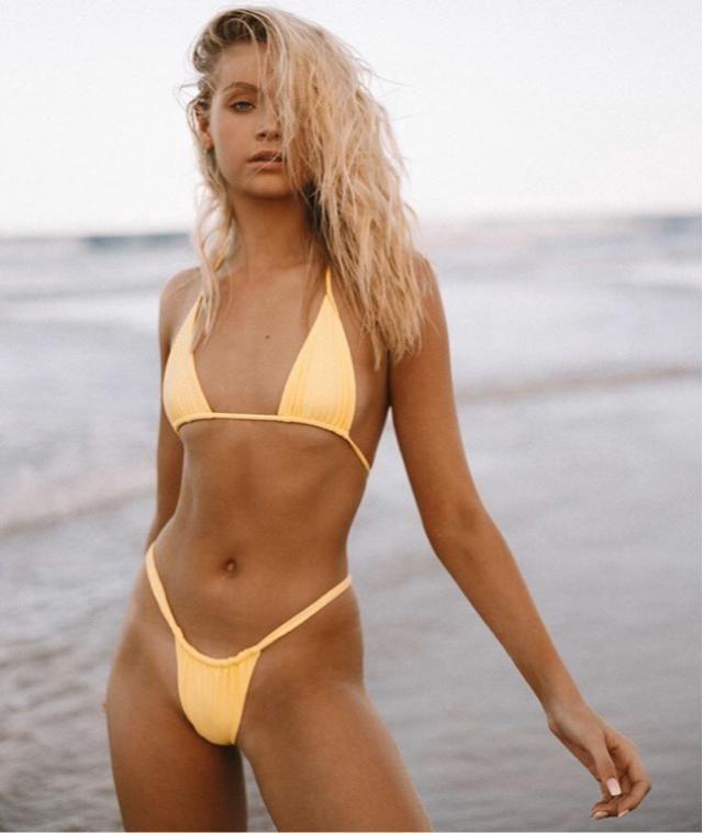 Yellow is my favourite colour, especially for bikini