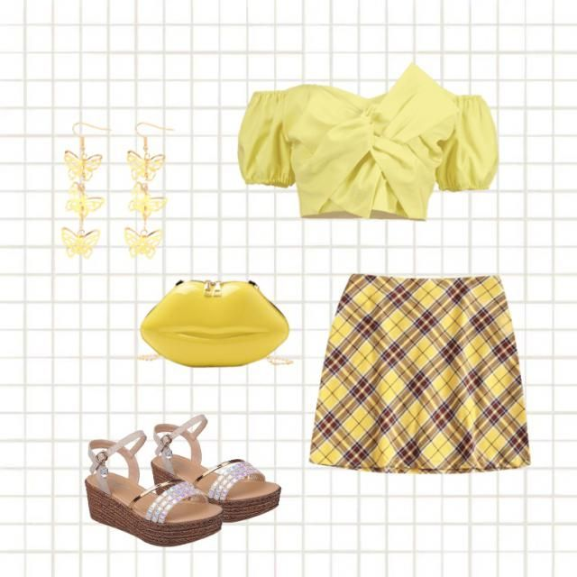 mono look,, mellow yellow🐥💛
