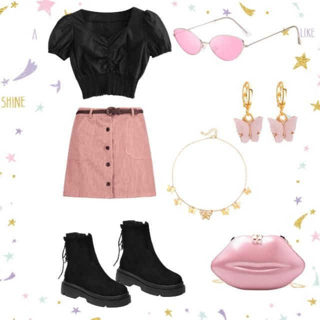 Rock this pink look anywhere. It&;s comfortable but still cute