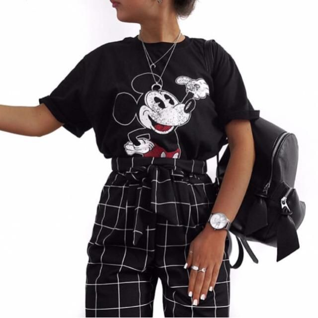 obsessed over this mickey mouse tee |