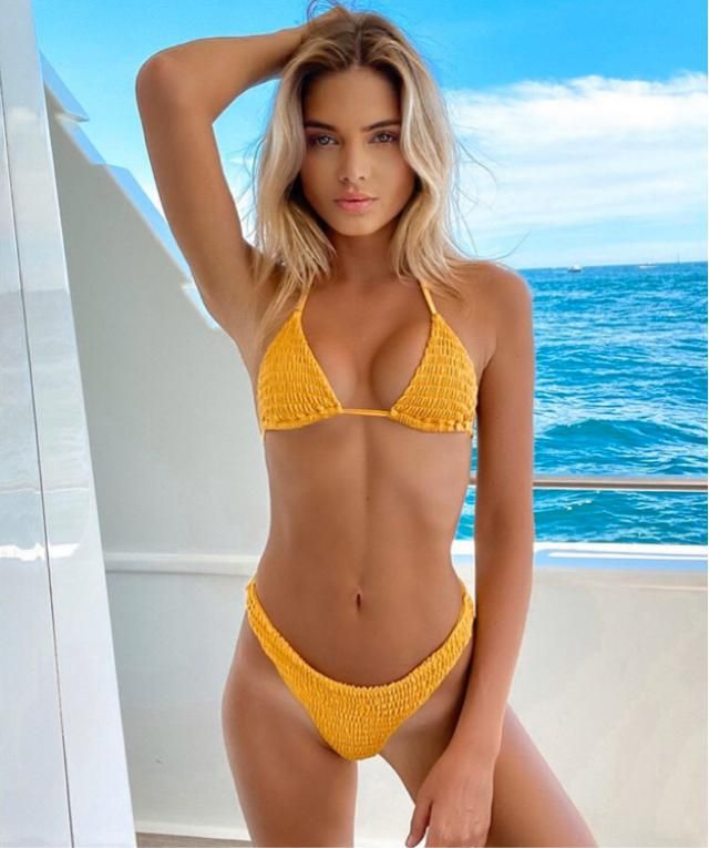 Yellow bikini is the best colour for summer