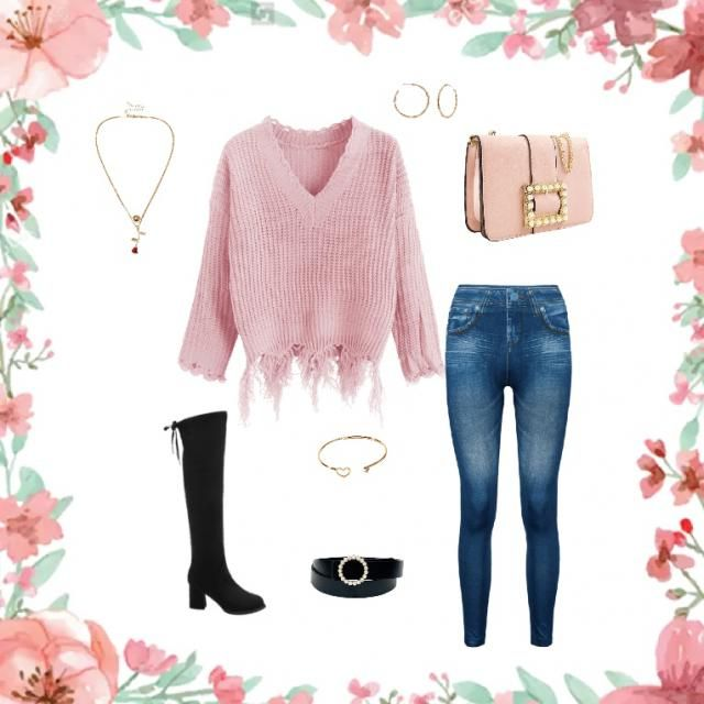 Casual but classy outfit. A cute pink outfit you can wear anywhere.