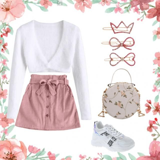 very stylish pink outfit for a movie afternoon or a date 💗