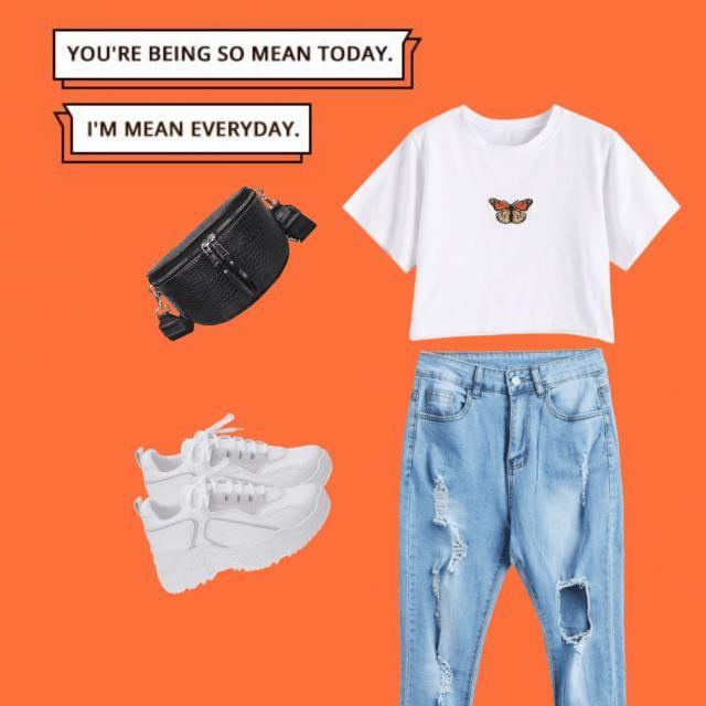Aqui está uma roupa normal e John life para usar no dia a dia.😍