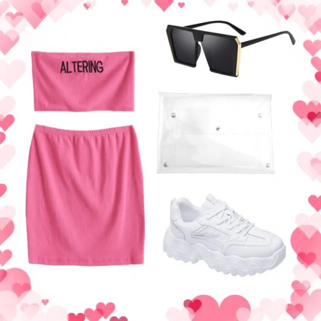 The pretty pink co-ord with these gorgeous trainers and accessories is perfect for a concert, night out, …