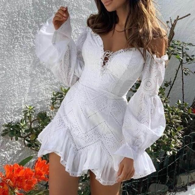 It's getting hot outside. Show your legs in a beautiful white summer dresses... | | |