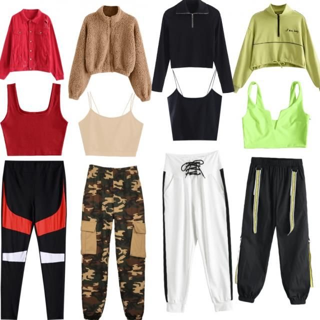 pick which one y'all like on comments and like If u do I'll follow u❤️❤️ mines white sweatpants one …