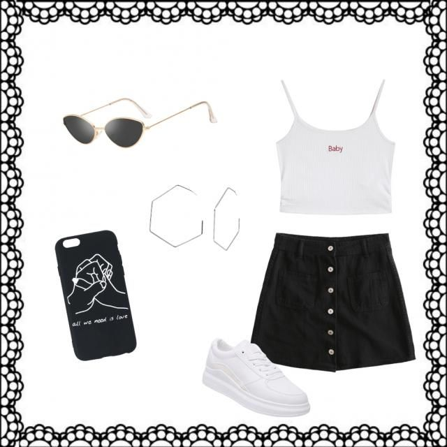 Simple but hot summer outfit