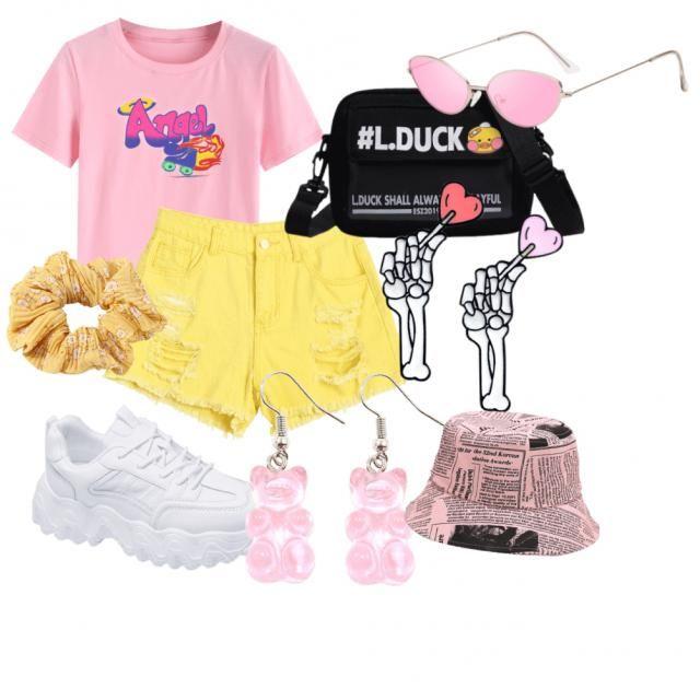 Summer pink bucket hat