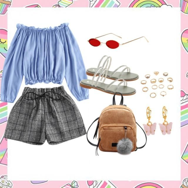 Simple cute outfit  that doubles up for both... the summer and the spring seasons 😌❤️