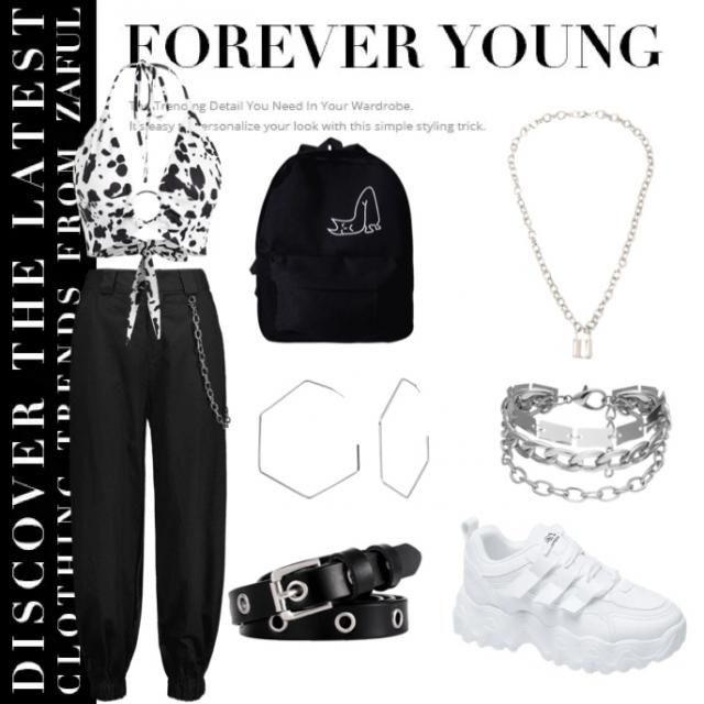 Outfit for spring/summer for that girl who likes chains