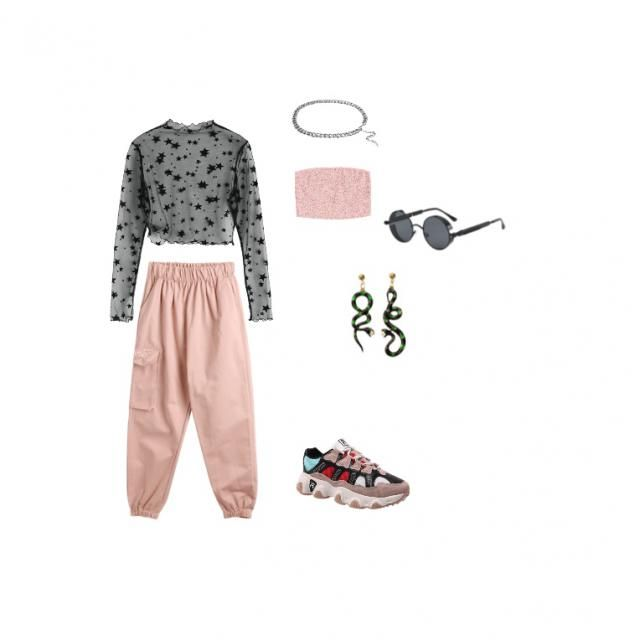 a cute black and pink contrast with a splash color