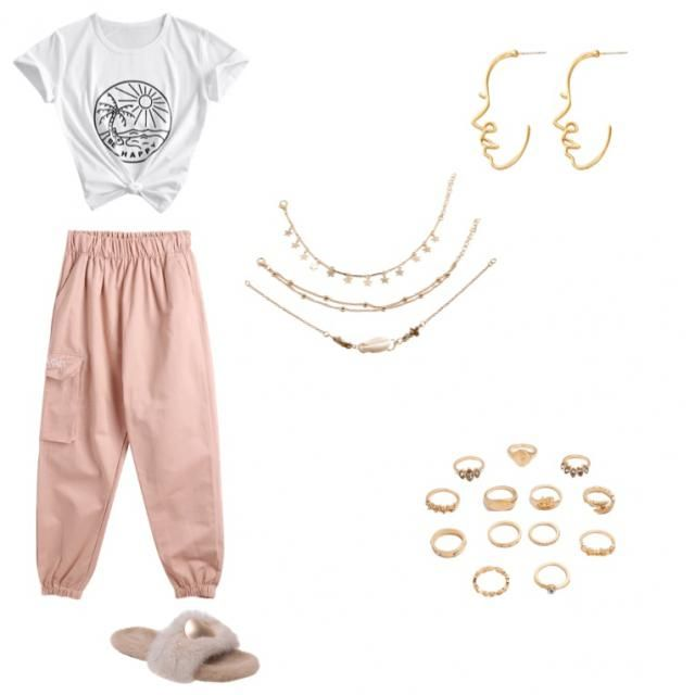 comfy and cute! stay at home outfit