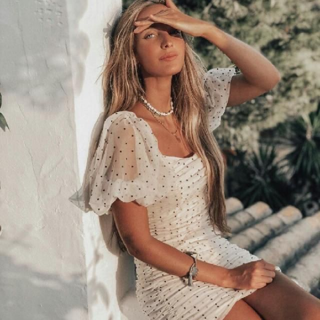 feminine and fashionable polka dot dress
