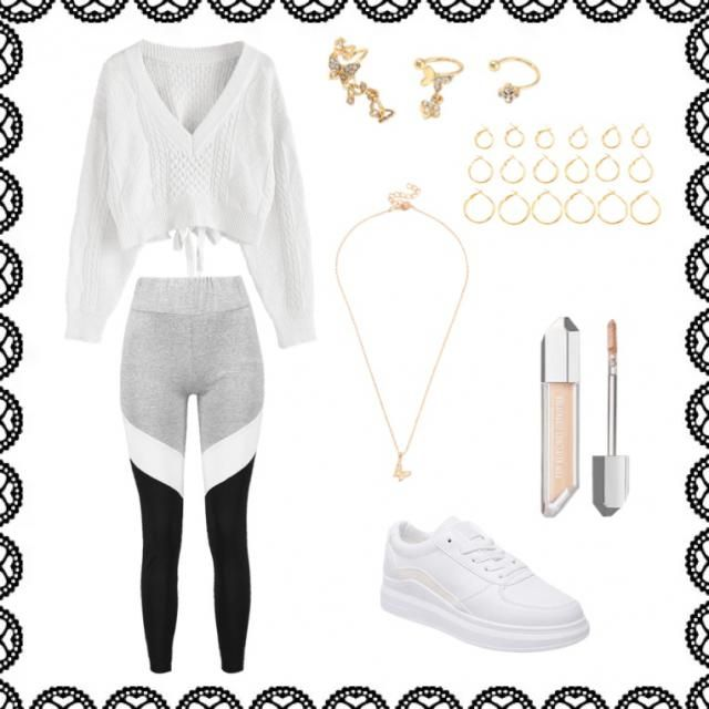This outfit is both comfortable and stylish; a perfect mix for quarantine!! Stay healthy!!