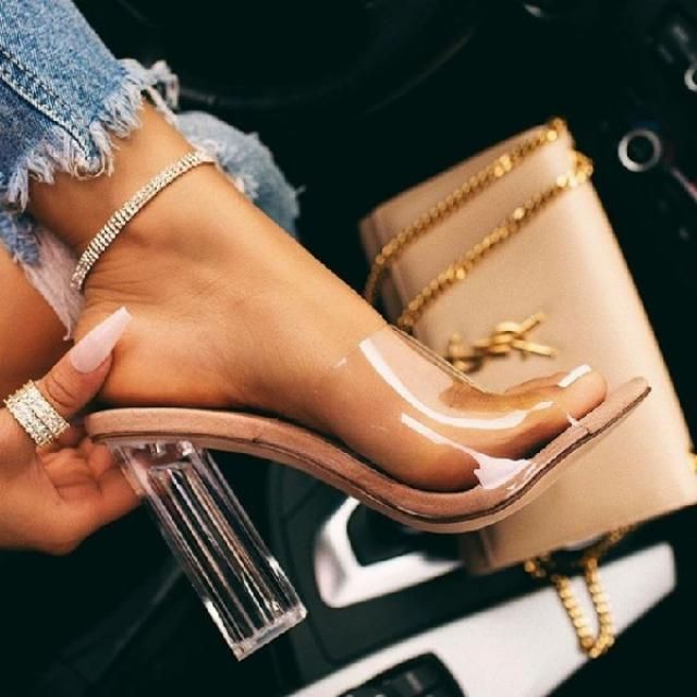 "The clear heel trend is so ""in"" and I hope it's here to stay. 