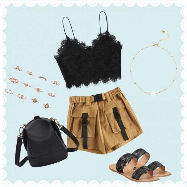 A cute out on the beach or just a day outfit