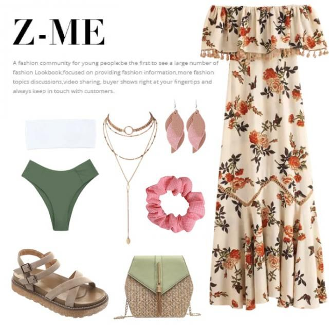 Beach afternoon, summer cocktail outfit