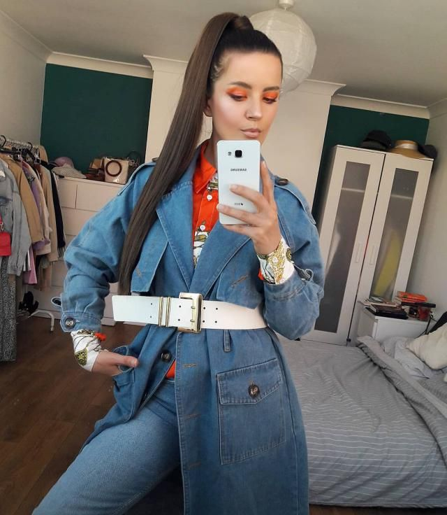 D E N I M  lover 💙💙💙 @zaful trench