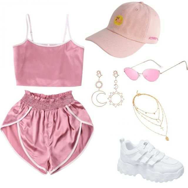 cute pink summer casual set, ordered these already to try out