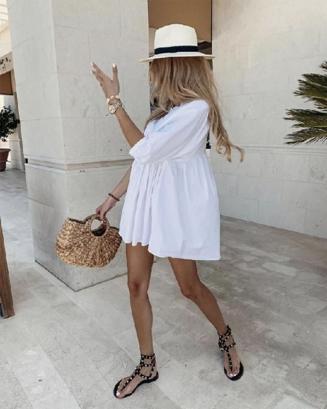 Go for a seriously chic vibe with  white summer and beach dresses. | | |