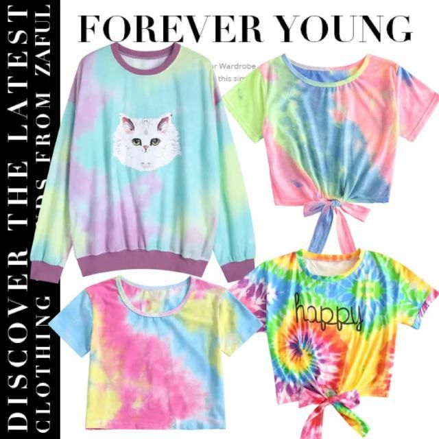 🌈 OHHH THESE DYED SHIRTS ARE TO DIE FOR 🥵 WHO'S FEELING CUTE IN IT ??😍