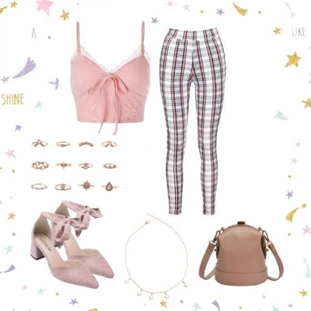 A cute pastel pink outfit