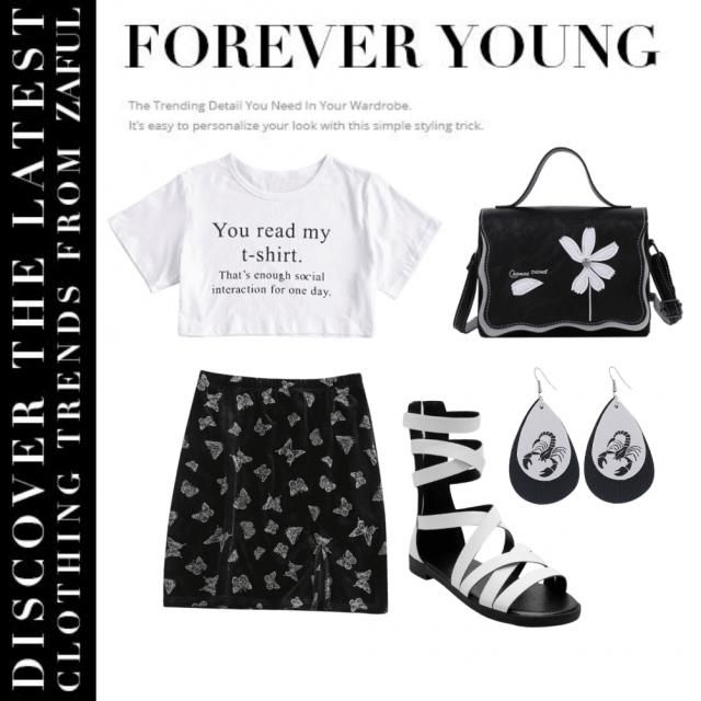 Cute spring outfit⚪⚫
