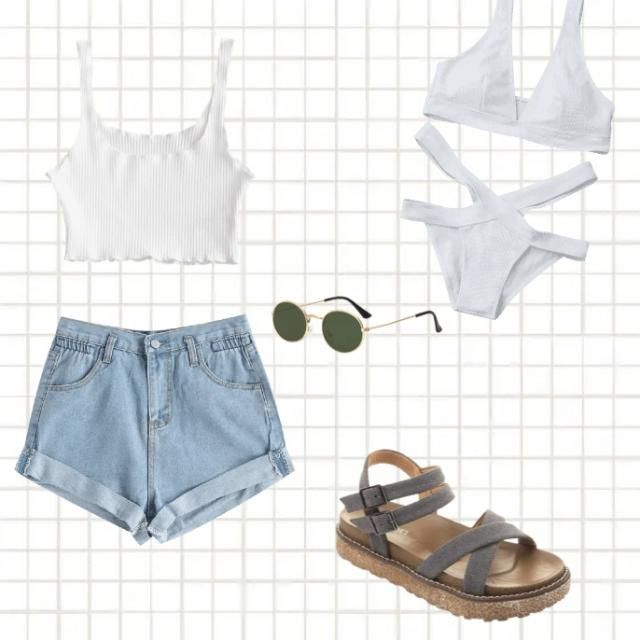 A cute beach outfit and bikini perfect for a day out or at the beach
