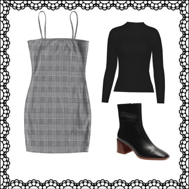 Outfit para otoño/invierno ☃  (usar con medias veladas y botas cortas o con unas botas largas)