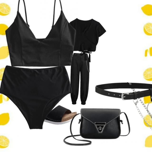 # black outfits