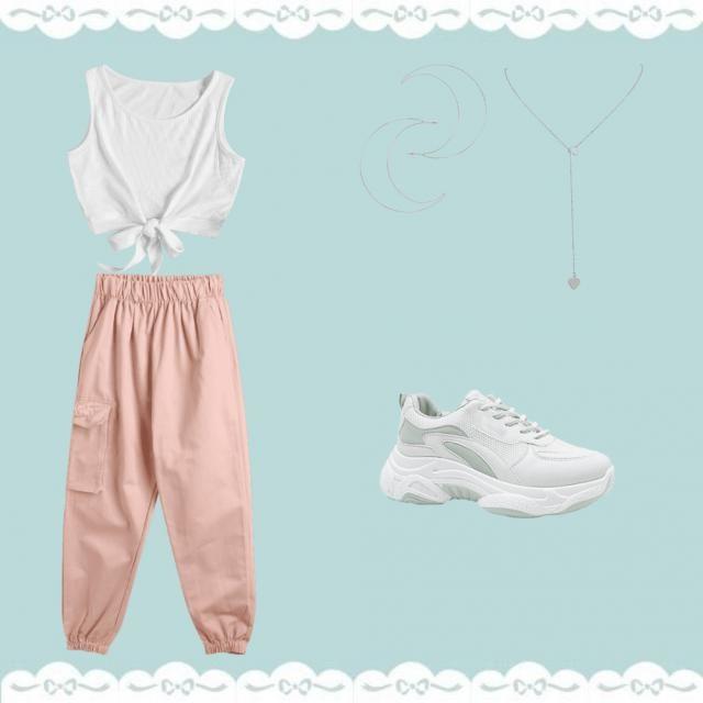 Outfit para ir a baile Casual (pendiente tenis)
