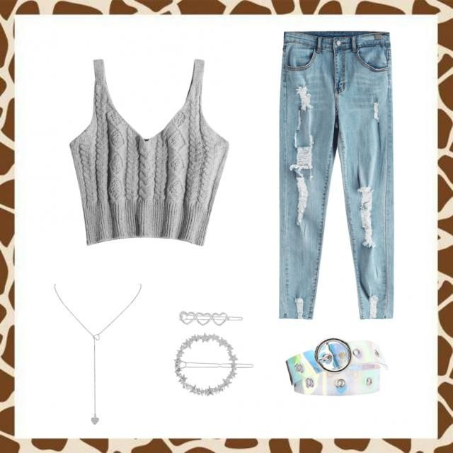 Outfit casual gris