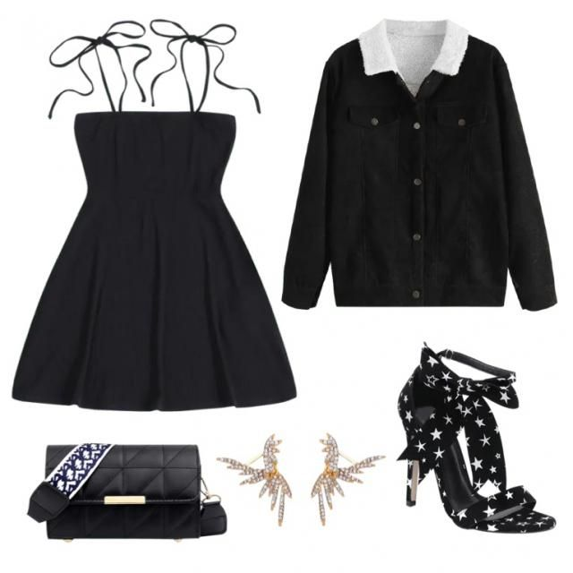 Total black going out outfit