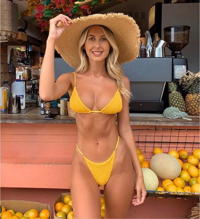 Yellow bikini is everything you want to get for summer